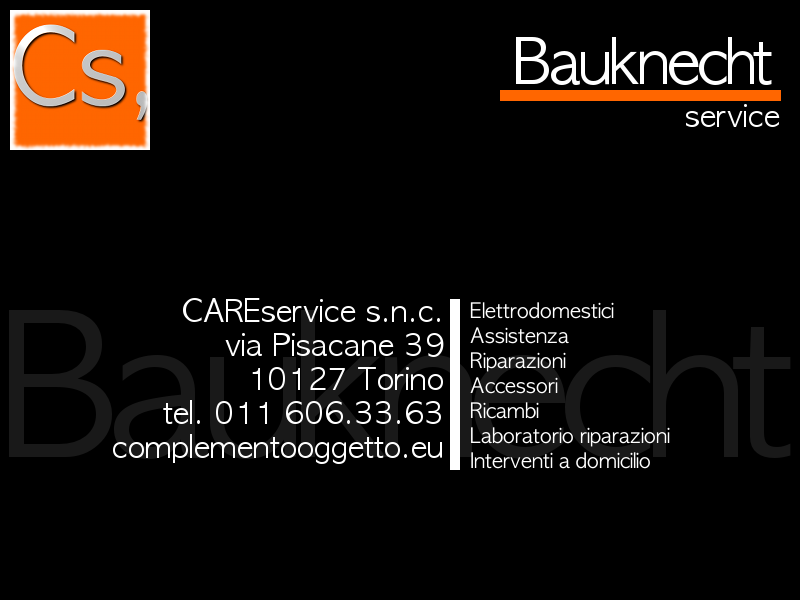 bauknecht service torino assistenza ricambi. Black Bedroom Furniture Sets. Home Design Ideas