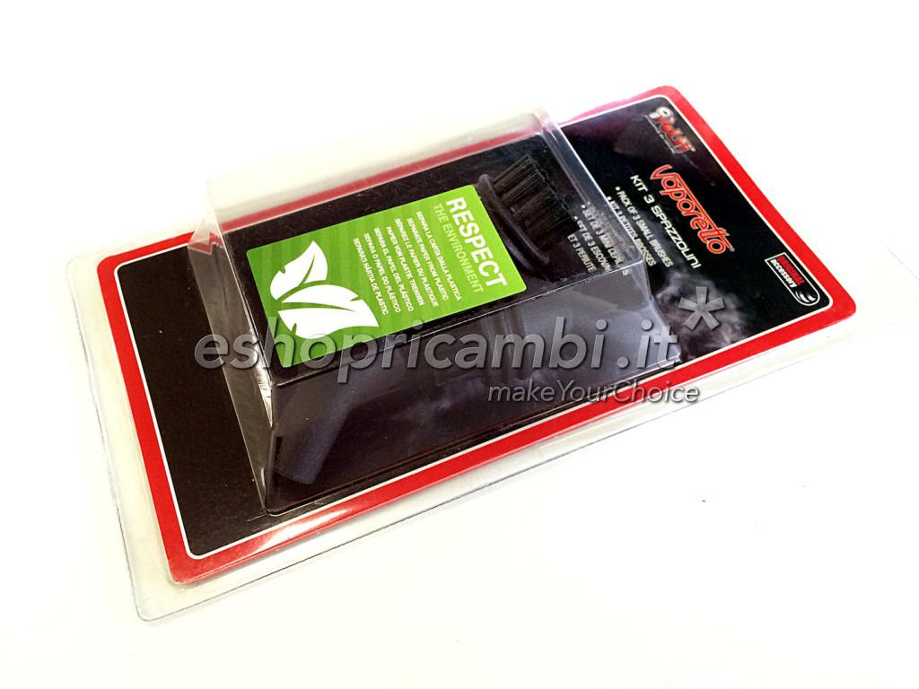Polti kit 3 spazzolini nylon per vaporetto pocket paeu0216 cs careservice - Vaporetto per piastrelle ...