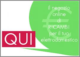 Collegati al nostro eShop! Acquista OnLine Ricambi Originali e Compatibili per Elettrodomestici