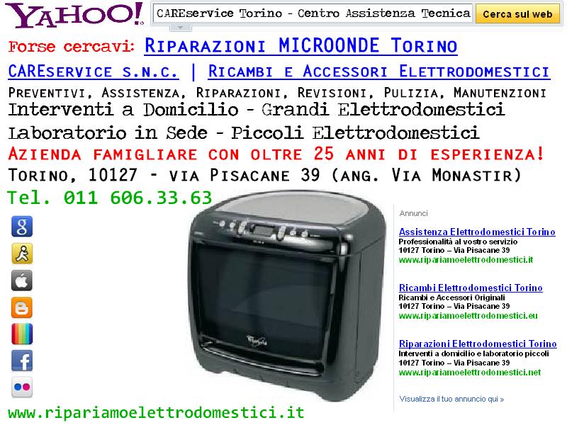 Cs, CAREservice riparazioni-microonde ASSISTENZA MICROONDE TORINO Assistenza Elettrodomestici  microonde elettrodomestici assistenza