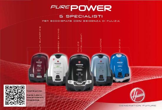 Cs, CAREservice hoover-aspira-brochure-purepower HOOVER | PUREPOWER [BROCHURE] Brochure Hoover  Purepower catalogo Brochure