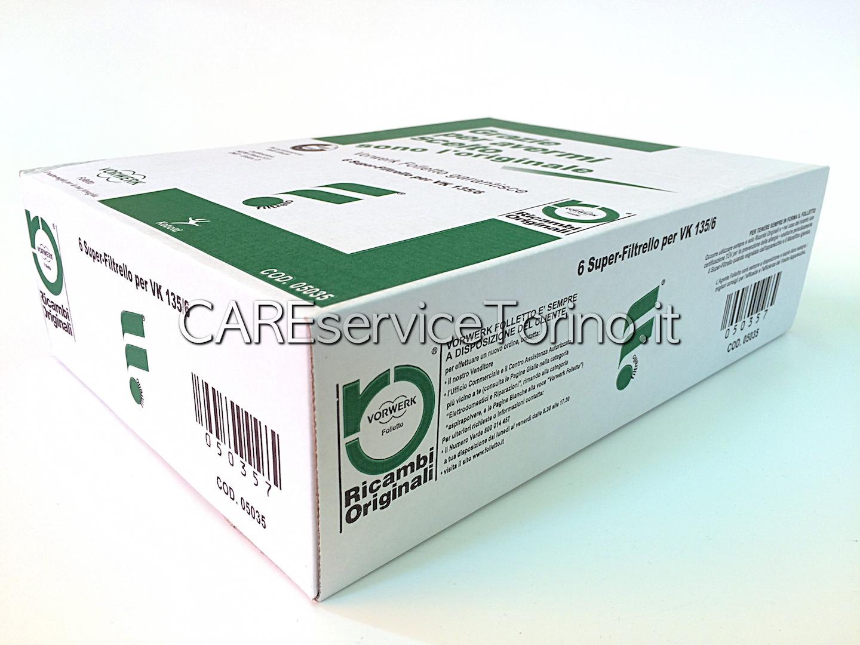 Cs, CAREservice 05035-2 VORWERK   Kobold Folletto – Confezione superfiltrello [Cod.05035] Folletto VK135/6  Vorwerk Kobold Folletto