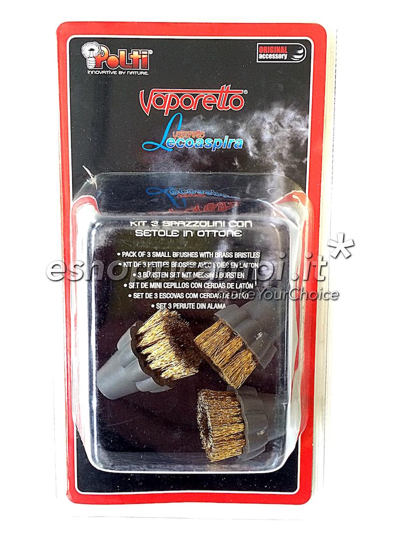 Cs, CAREservice PAEU0297-1 POLTI | Kit 3 spazzolini in ottone per Lecopaspira [PAEU0297] Polti Pulizia  PAEU0297
