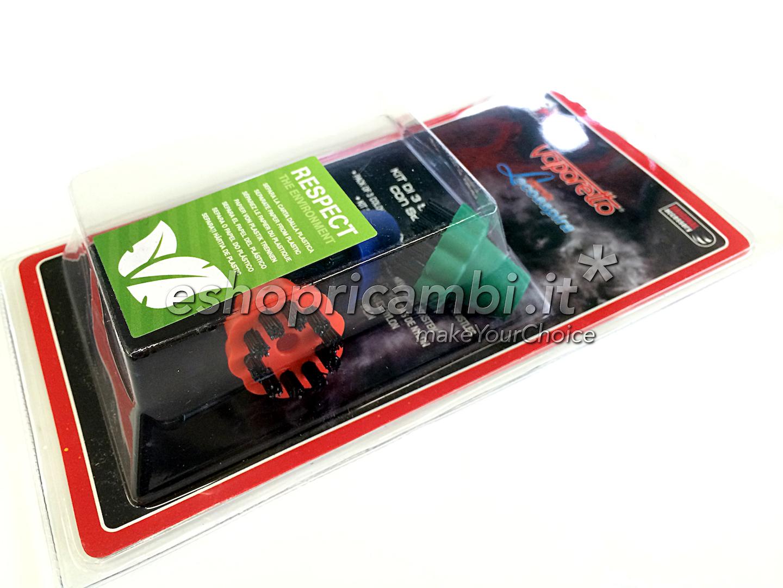 Cs, CAREservice PAEU0206-4 POLTI | Kit 3 spazzolini colorati con setole in nylon per Lecopaspira [PAEU0206] Polti Pulizia  PAEU0206
