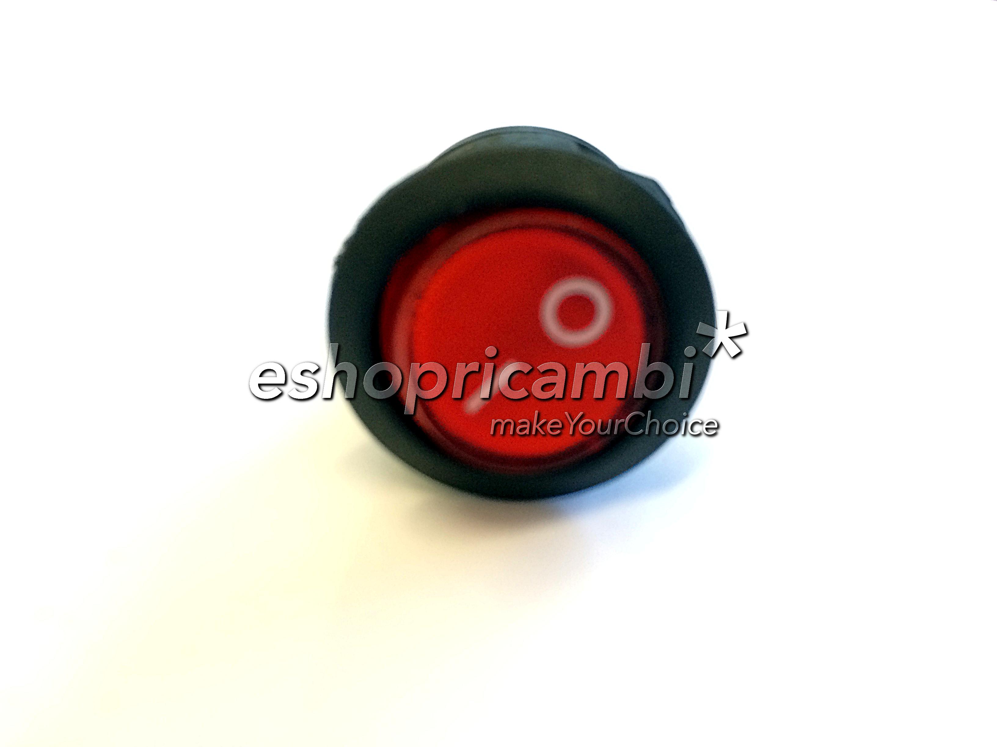 Cs, CAREservice M0004016-A POLTI | Interruttore Circolare Luminoso Rosso per Vaporella Polti Stiro  M0004016