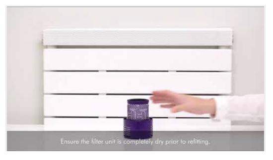 Cs, CAREservice v10-lavaggio-filtri Dyson V10 - Lavaggio dei filtri [video] Dyson V10  V10